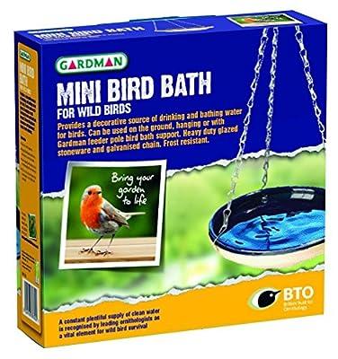 New Gardman Hanging Mini Bird Water Bath Garden Wild Birds Gtl from GTL-Gardman