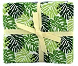 Tessuto Freedom Tropical leaves fat quarter Bundle, multicolore