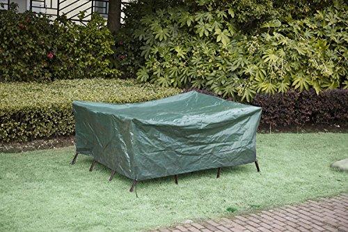 GreenYard Schutzhülle für Gartentischgruppe, Grün, 173 x 215 x 90 cm