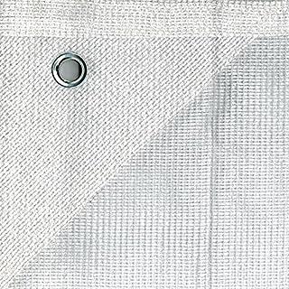Bauzaunnetz Bauzaun sichtschutznetz für Bauzaun 1,80m x 3,45m weiß