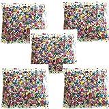 DIVERTILANDIA 5 Buste di CORIANDOLI Multicolor da 250 Grammi