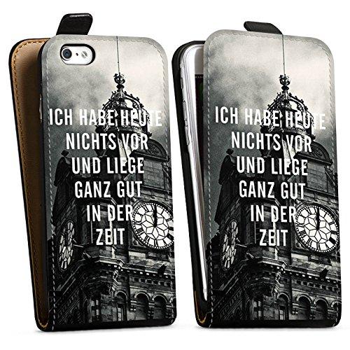 Apple iPhone X Silikon Hülle Case Schutzhülle Zeit Sprüche Faulheit Downflip Tasche schwarz