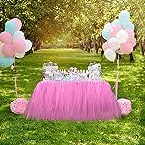 Tisch Röcke, SevenD Tisch Tutu Tüll für Hochzeit, Geburtstag, Baby Shower, Meetings und Home Party Dekorationen (pink)
