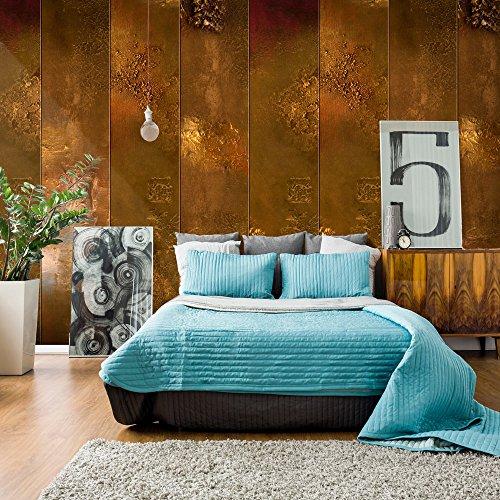 murando - PURO TAPETE - Realistische Tapete ohne Rapport und Versatz - Kein sich wiederholendes Muster - 10m Vlies Tapetenrolle - Wandtapete - modern design - Fototapete - Textur gold - wie gemalt f-A-0463-j-c