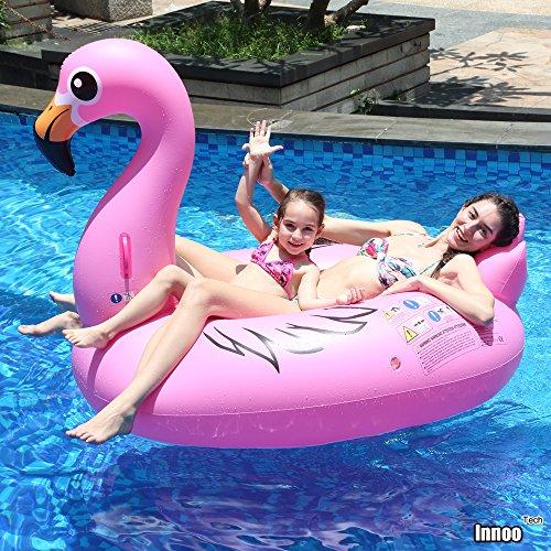 Innoo tech gonfiabile fenicottero salvagente gonfiabile piscina 170 x 110 x 125 cm anello di nuoto fenicottero gonfiabile rosa gigante per ragazzi