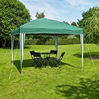 Kingfisher 3 x 3 metre Pop-Up Gazebo Party Tent Green and White Striped