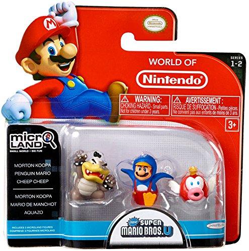 Nintendo Mario Bros U Micro Figuras – Morton Koopa, Penguin Mario y Cheep Cheep (30 _ 01160)