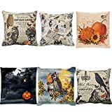 Blling Taies d'oreillers Square Pillowcase Halloween Cemetery Bats Cotton Velvet...