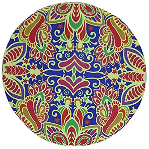 Serviette de plage Couvre-lit, 1PC Omiky® Bohême Floral hippie Tapisserie géométrique Bikini Cover Up Couverture de pique-nique Tapis de yoga Nappe Housse de matelas à suspendre au mur, Polyester, # F, 150*150cm/59*59