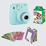 FujiFilm Instax Camera Mini 9 Bundle Pack (Ice Blue)