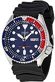 Seiko - SKX009K1 - 5 Sports Diver's - Montre Homme - Automatique Analogique - Cadran Bleu - Bracelet Caoutchouc Noir