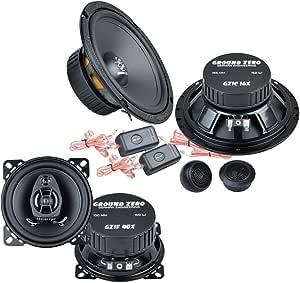 Ground Zero Front Heck 16 5cm 10cm Auto Lautsprecher Boxen Speaker Komplett Set Kompatibel Für Opel