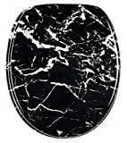 Soft Close Toilet Seat | Stable Hinges | Easy to mount | High-quality surface | Marble Black