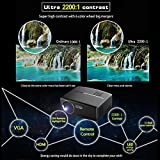 Beamer 1800 Lumen 1080P, VPRAWLS LED Mini Video Projektor Unterstützung Full HD Portable Multimedia Projektor für Heimkino Cinema Movie Entertainment - 9