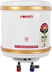 Powerpye 5 Star ISI Mark Stainless Steel Geyser, 10 L, Ivory