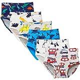 Kidear Ropa Interior Kids Series de Algodón Suave Calzoncillos Surtidos de niños pequeños(Paquete de 6)