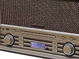 Soundmaster NR955BR Nostalgie Radio mit UKW und DAB+ Radio sowie CD