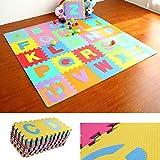 Hunpta 36 stücke GROßE Alphabet Zahlen EVA Boden Spielmatte Baby Room Jigsaw ABC schaum Puzzle (Multicolor)