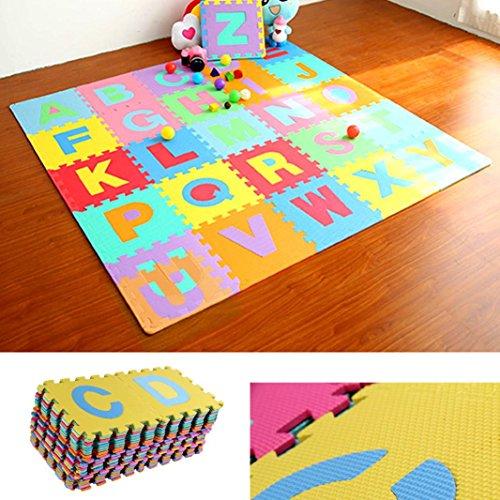 Hunpta 36 stücke GROßE Alphabet Zahlen EVA Boden Spielmatte Baby Room Jigsaw ABC schaum Puzzle (Multicolor) (Schaum-bad-matte)