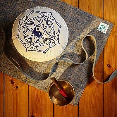 #DoYourYoga Yogakissen mit Stickerei   Größe ca. 34x20cm - Füllung : Buchweizenschale o. Dinkelspelz   handbesticktes Meditationskissen aus Baumwolle : Namaste