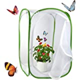 Yeelan Butterfly Habitat Collapsible Bug Catcher Net Mesh Insects Plant Cage Terrarium Pop-up for Kids/Toddler Catching…