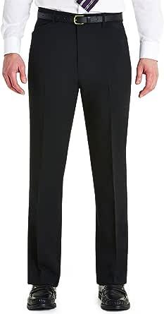Farah Mens Frogmouth Pocket Formal Smart Trouser Pants Black