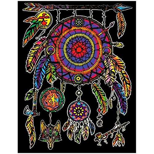 Terciopelo colorvelvet de 47x35 cm para colorear con caja de rotuladores - Atrapasueños