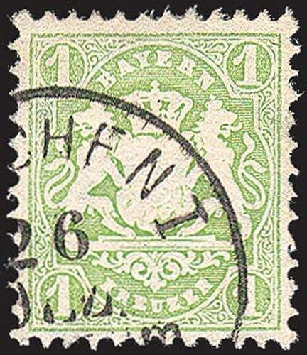 Goldhahn Bayern Nr. 32 gestempelt Briefmarken für Sammler