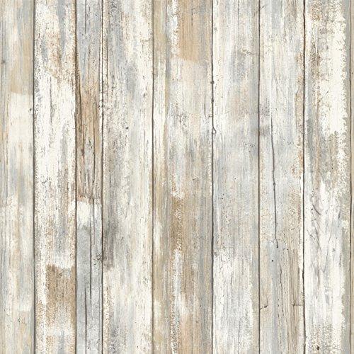 Peel&Stick PEEL & STICK Raumdekor - Verwittertes Holz Wandtattoo, PVC, bunt, 53 x 8 x 8 cm