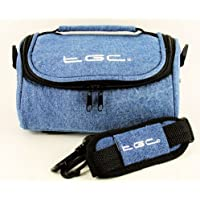 TGC ® Camera Case for Canon LEGRIA HF G25 with shoulder strap and Carry Handle (Full Dreamy Blue Denim)