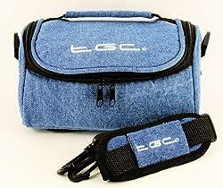 Tgc ® Camera Case For Sony Cyber-shot Dsc-w800, Dsc-w810, Dsc-wx350 With Shoulder Strap & Carry Handle (Full Dreamy Blue Denim)
