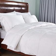 Kuber Industries Reversible Microfibre Single Comforter King Size, White (CLT579)