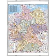 Franken KA445P Kartentafel Plz, Deutschland pinnbar 1:750.000, 138 x 98 cm