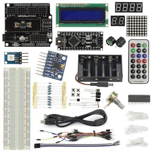 SainSmart Nano V3Starter Kit für Arduino (1602cld + Prototyp Mini Schneidebrett + HMC5883L inklusive.) Mit Tutorial Bedienungsanleitung auf Arduino Projekte von Base