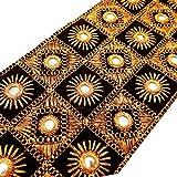 Bordado Espejo Negro Tela ajuste Craft Supply 8,8 cm de ancho encaje por 1 yarda