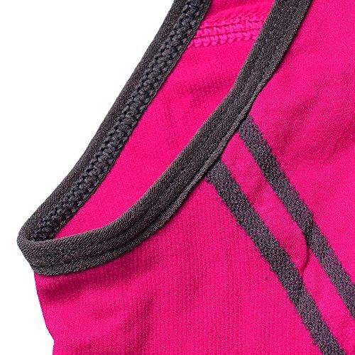 hjuns Damen Sport-BH Rosa - Hot Pink