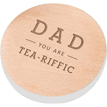 Mummy Persnalised Mam Mammy you are tea-riffic slate coaster Gift Heart Mum