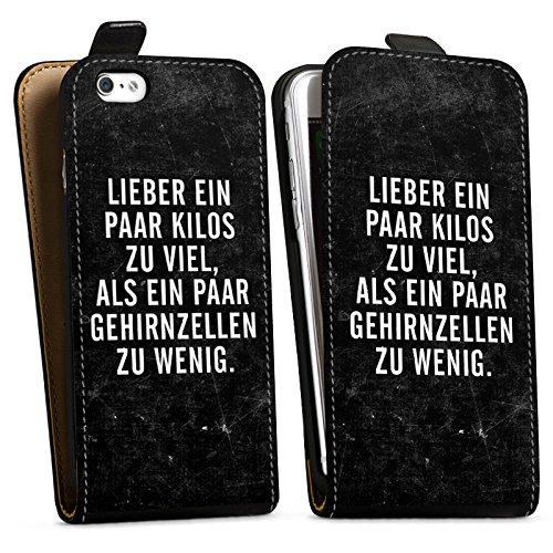 Apple iPhone X Silikon Hülle Case Schutzhülle Gewicht Humor Sprüche Downflip Tasche schwarz