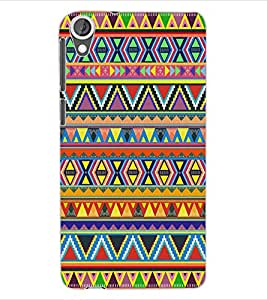 ColourCraft Tribal Pattern Design Back Case Cover for HTC DESIRE 820