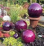 Kugel aus Edelstahl 30 cm Dekokugel Marmor violett Dekorationskugel Edelstahlkugel