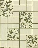 Küchen Tapete Badezimmer Tapete EDEM 146-25 Fliesen Kacheln Optik florales Muster beige grün olive