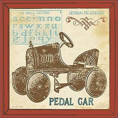 Keilrahmen-Bild - Jo Moulton: Vintage Pedal Car 50 x 50 cm - Pedale Oldtimer