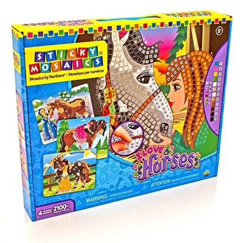 Sticky Mosaics I Love Horses (Geschenke Für 7 Jährige Mädchen)