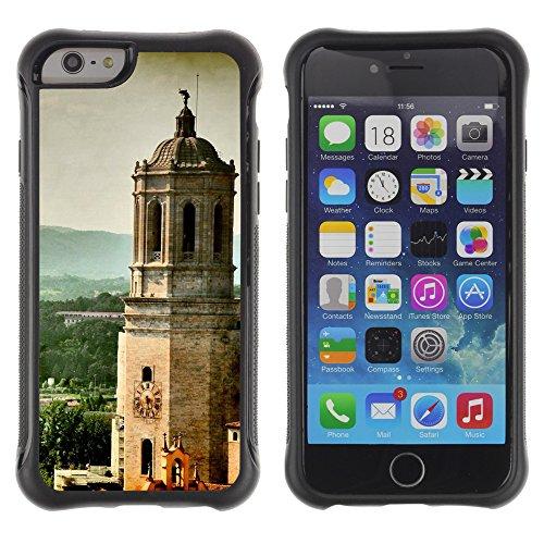 Graphic4You Cathedral Girona Spain Postkarte Ansichtskarte Design Shockproof Anti-Rutsch Weichen Hülle Case Tasche Schutzhülle für Apple iPhone 6 / 6S Cathedral Girona