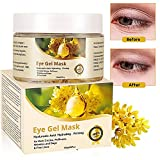 Eye Mask, Augenpads, Hyaluron Augenpflege, Anti aging Augenpads, 60Pcs collagen eye mask, Gold Osmanthus Antifalten Augenpads Feuchtigkeit spendende, entfernen Taschen, dunkle Kreise & Puffiness