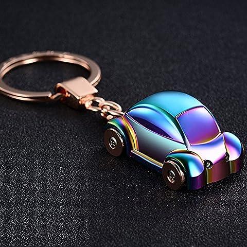 Jobon Mini Beetle Auto elegante portachiavi con SOS torcia in lega di acciaio galvanizzato stesso Cute con Pokemon