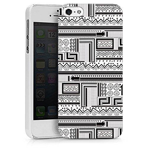 Apple iPhone X Silikon Hülle Case Schutzhülle Ethnostyle Abstrakt Muster Hard Case weiß