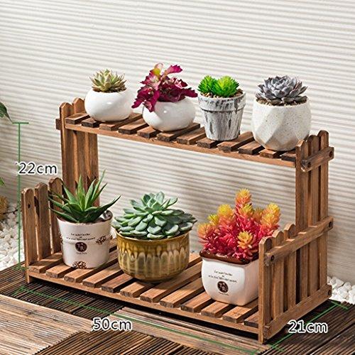 ZCJB Etagères de plantes Fleur Stand Solide Bois Salon Balcon Floorstanding Multi-couche Fleur Pot Rack Intérieur Simple Plantes Grasses Succulentes (taille : 50 cm)
