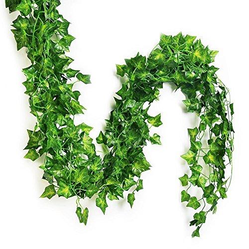 Eastern modernes Leben Splendid Englisch Ivy Seide Greenery Hochzeit Party Girlanden (75feet-12PCS) (75' Pc)