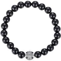 MetJakt Naturelles 8mm Pierres Bracelet précieuses de guérison avec Cristal Bangle en Perles avec Pendentif en Argent…